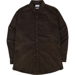 S.OVERSIZED CORDUROY 16W SHIRTS DARKBROWN
