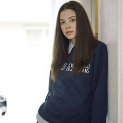 [L]Navy Sweatshirts