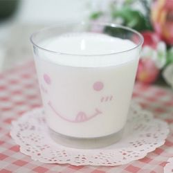 [대용량] 디저트컵 스마일 양면-핑크(뚜껑포함) 100개