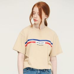 [L]FAST DELIVERY TEE-BEIGE