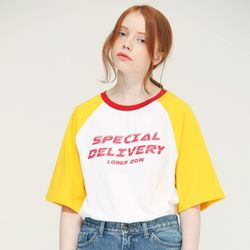 [L]SPECIAL DELIVERY TEE-YELLOW