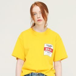 [L]PIZZA TEE-YELLOW