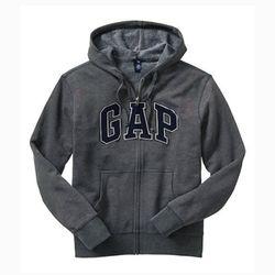 GAP 갭 기모 후드집업 21887106 스톤그레이(딥네이비)