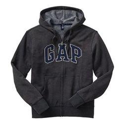 GAP 갭 기모 후드집업 21887106차콜(딥블루) 남녀공용