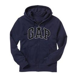 GAP 갭 기모 후드집업 218871 56B 네이비(블랙로고)