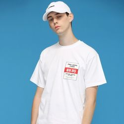 [L]PIZZA TEE-WHITE