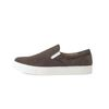 PYTHON EMBOSSED COW SUEDE SLIP ON(BROWN)