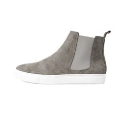 REAL LEATHER CHELSEA BOOTS(GRAY)