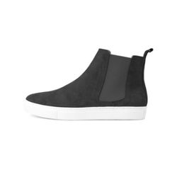 REAL LEATHER CHELSEA BOOTS(BLACK)
