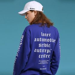 [L]MECHANICAL TEE-BLUE 긴팔티셔츠