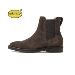 AMERICAN COW SUEDE CHELSEA BOOTS(BROWN)