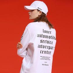 [L]MECHANICAL TEE-WHITE 긴팔티셔츠