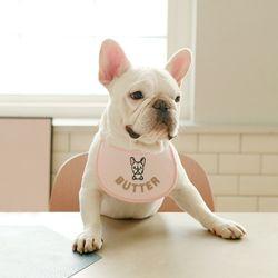 custom scarf bib (pink)