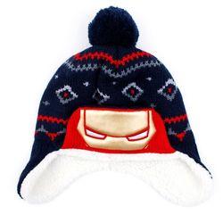아이언맨 스웨그 아동 모자(네이비)