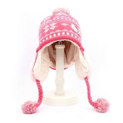 헬로키티 겨울아이 아동 니트모자