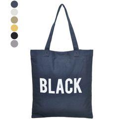 [신상품] 블랙로고 에코백 TPBT6W03