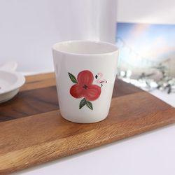 레트로 동백꽃 컵