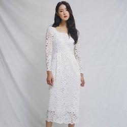 [CLAIR DE LUNE] TIFFANY DRESS WHITE