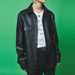 leather western shirt - UNISEX