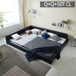 모던라운지 퀸+퀸 패밀리 침대+50T매트