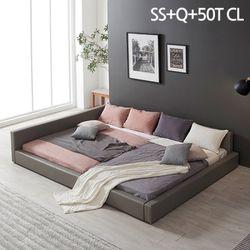 모던라운지 슈퍼싱글+퀸 패밀리 침대+50T매트