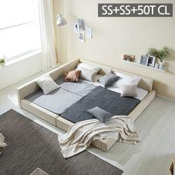 모던라운지 슈퍼싱글+슈퍼싱글 패밀리 침대+50T매트