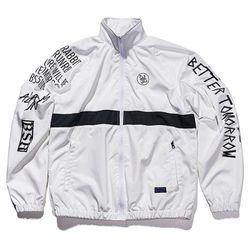 BSRABBIT Crush track jacket WHITE