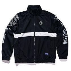 BSRABBIT Crush track jacket BLACK