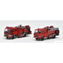 트럭컬렉션 소방펌프차 & 물탱크트럭세트