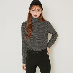 [로코식스] stripe high-neck T-shirts티셔츠