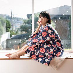 토선생 면소재 유카타 원피스 잠옷
