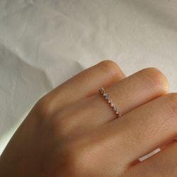 14k gold triple gem ring
