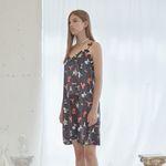 Love Cherry Pattern Sleeveless Dress