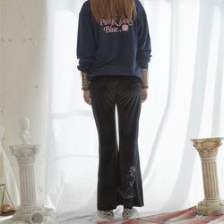 Venus Embroidery Velvet Pants