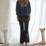 Venus Embroidery Velvet Pants