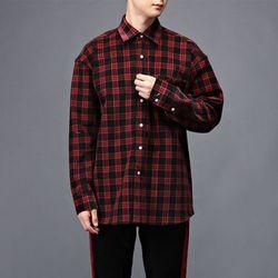 [매트블랙] 골덴 체크 박스 셔츠