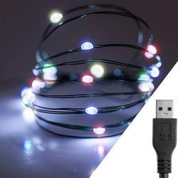 스트링라이트 10M USB 레인보우그린 와이어