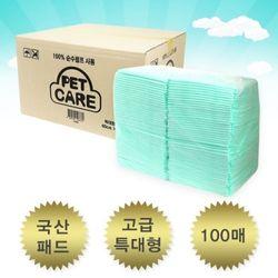 펫케어 고급 특대형 패드 100매