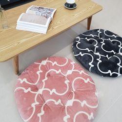 모로칸 극세사 라운드 방석