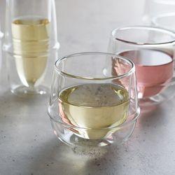 [킨토] 크로노스 이중유리 와인잔 250ml