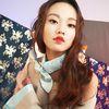 floral pattern silk scarf