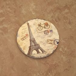 유러피안 에펠탑 도자기 코스타1개(디자인랜덤)