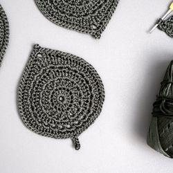 알로카시아 컵받침 - 손뜨개 KIT