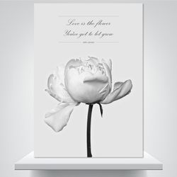 꽃처럼 사랑도 - 감성사진 폼보드액자(A4)