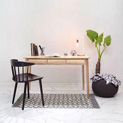 원목 러버슬림 3서랍 책상 테이블 120