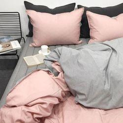마로니크스트라이프 핑크- 더블퀸 침구풀세트