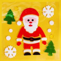 [인디고샵] 산타 유리장식 젤리스티커
