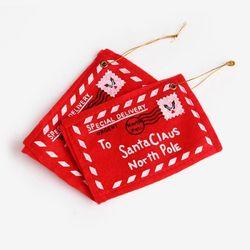 산타 메세지 봉투 포인트 데코 (2개)