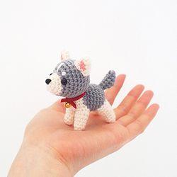 (DIY 키트) 손뜨개 시베리안 허스키 강아지 인형