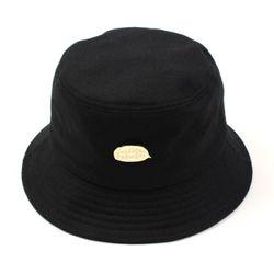 Gold Metal Logo Bucket Hat BK 메탈버킷햇